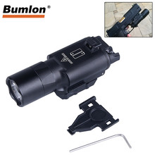 Tactical X300 Ultra Flashlight LED Weapon Pistol Gun Light with 20MM Picatinny Rail for Hunting Airsoft RL8-0003