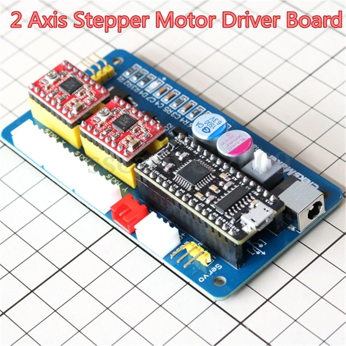 2 axis usb cnc stepper motor control board driver 12v for 12v servo motor controller