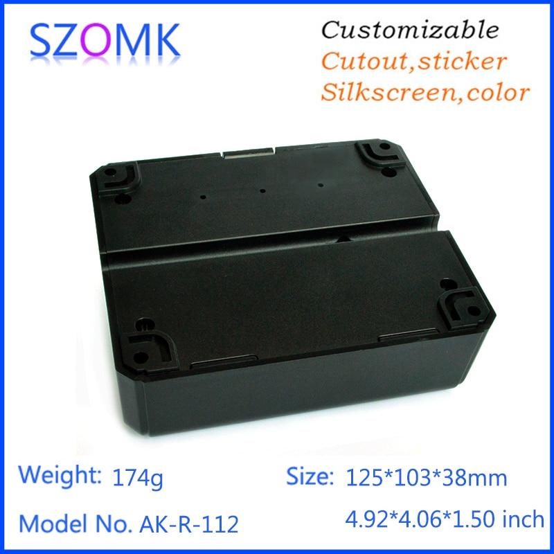10 pcs, 125*103*38mm plastic enclosures for electronics cabinet black plastic equipment box RFID alarm access plastic box