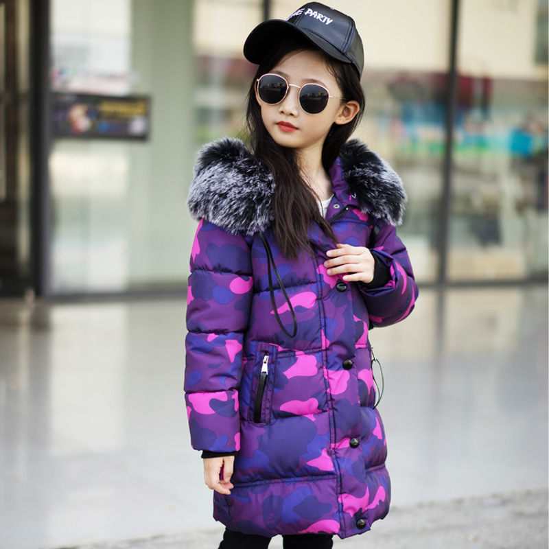 Kids Hooded Coat Winter Jackets Warm Down Cotton for Girl Outerwear Thick Children's Camouflage Cotton Padded Clothes 2017 new boys winter thick warm coat kids school hooded casual jacket kid snow outerwear down cotton padded winter coats clothes