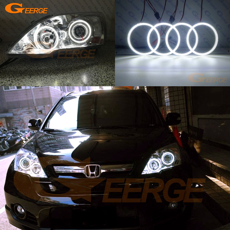 For HONDA CR-V CRV 2007 2008 2009 2010 2011 Xenon headlight Excellent Ultra bright smd led Angel Eyes kit DRL for honda cr v crv 2007 2008 2009 2010 2011 projector headlights excellent ultra bright smd led angel eyes halo ring kit