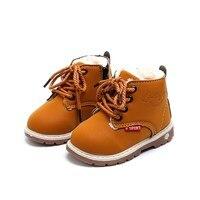 Children Shoes Kids Boys Martin Boots Hot Sale Winter Plush Warm Princess Girls Shoes Thick Soft