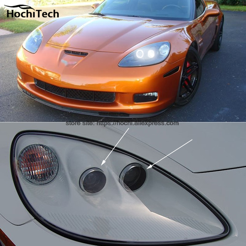 HochiTech ccfl angel eyes kit white 6000k ccfl halo rings headlight for Chevrolet Corvette 2005 to 2013 for uaz patriot ccfl angel eyes rings kit non projector halo rings car eyes free shipping