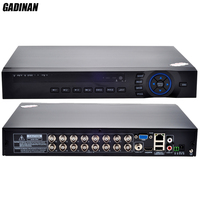 Gadinan 16CH AHD TVI 1080N DVR HDMI 4 * IP 5 м NVR для безопасности/AHD/ip камера ONVIF cctv Wi Fi DVR Hybrid: 8CH 1080N + 8CH IP 960 P