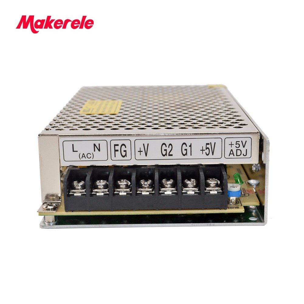 50w Dual Output Switching power supply Output Voltage 12V 24V AC-DC D-50C 2A 1A 85-132VAC/170-264VAC input selected by switch ms 50 24 24v 2 1a switching power supply 85 264v ac input 5v dc output 50w led driver