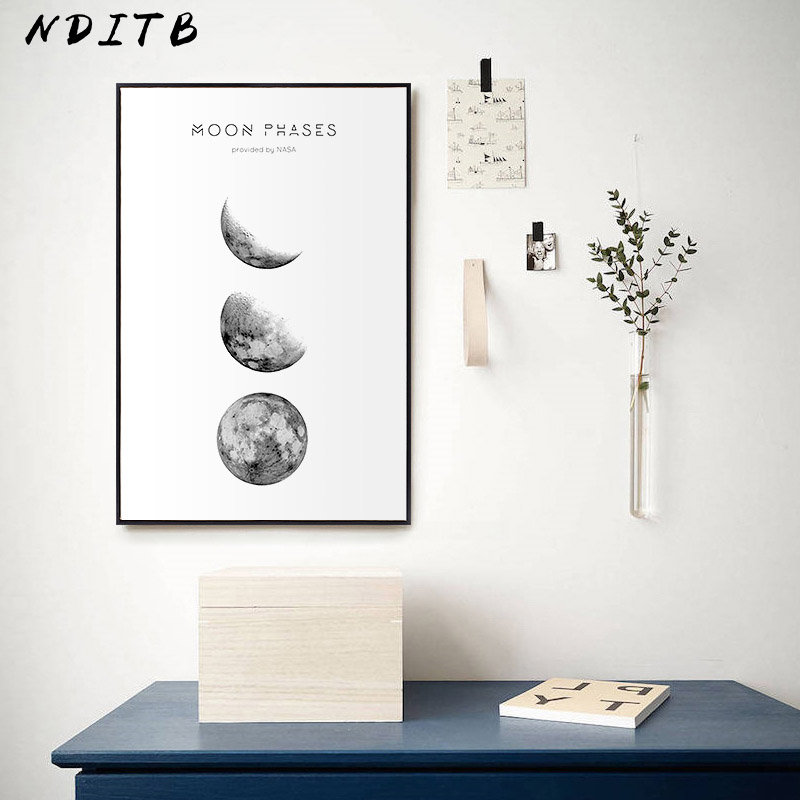 HTB1n7hRXIvrK1Rjy0Feq6ATmVXaS Moon Phase Canvas Posters and Prints Minimalist Luna Wall Art Abstract Painting Nordic Decoration Pictures Modern Home Decor