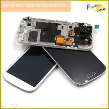 87a879b8403 Negro/Blanco/azul para Samsung Galaxy S4 Mini i9195 i9190 pantalla LCD  asamblea de pantalla táctil digitalizador + marco + herra.