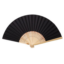 Pattern Folding Dance Wedding Party Lace Silk Folding Hand Held Solid Color Fan 10.11(China)