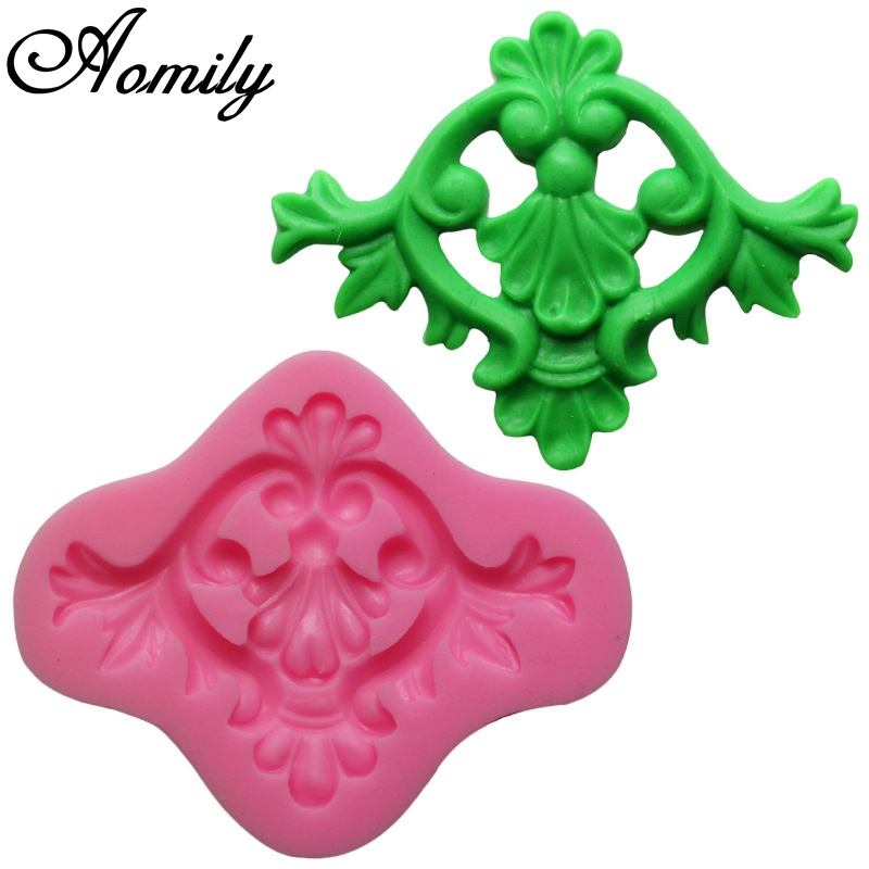Aomily Art Carved Flower Shape Silicone Cake Molds Mini Jelly Fondant Chocolate Sugar Decorating Mould Handmade Soap Baking Tool