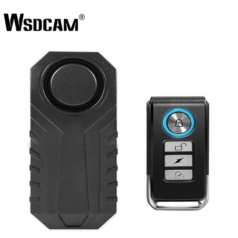 Wsdcam à prova dwaterproof água de controle remoto da bicicleta motocicleta carro elétrico veículo segurança anti perdido lembrar vibração aviso alarme sensor