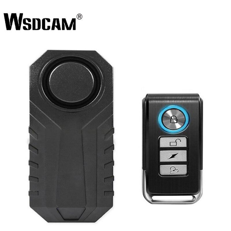 Wsdcam Controle Remoto À Prova D' Água Da Bicicleta Da Motocicleta Elétrica Car Veículos Segurança Anti Perdido Lembrar Aviso Alarme Sensor de Vibração