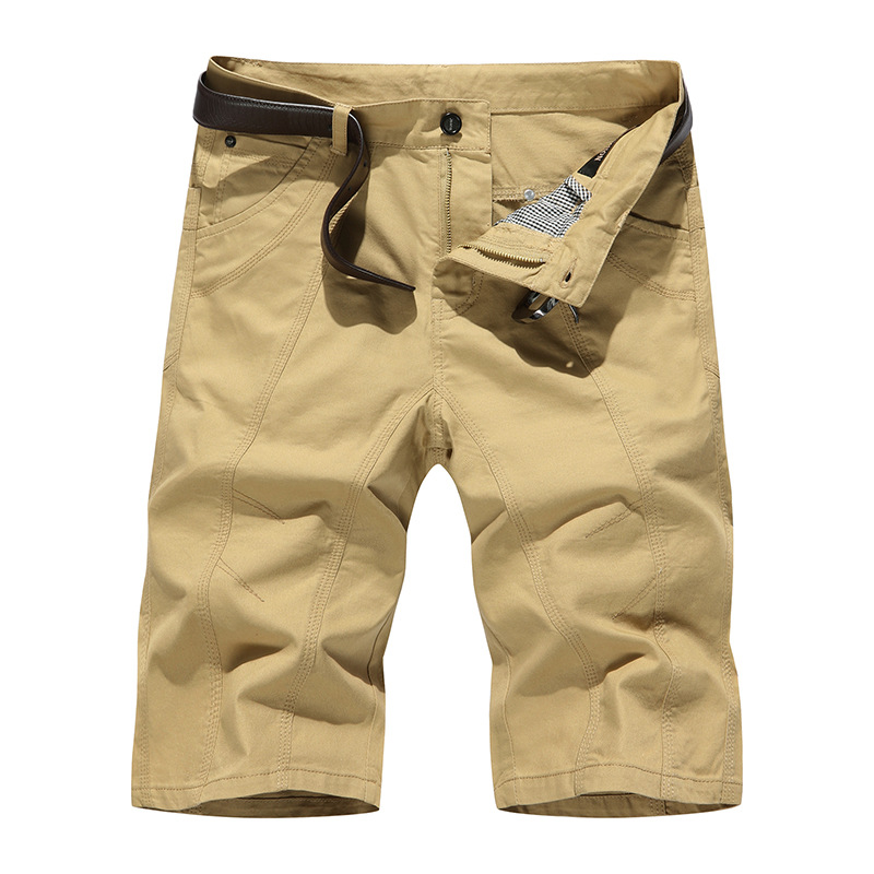 magasin d'usine a6042 86cf3 US $18.35 49% OFF|Bermuda Shorts Men Brand Men Shorts Casual Slim Fit  Youths Men Beach Shorts Homme Cargo Shorts Khaki Black-in Casual Shorts  from ...