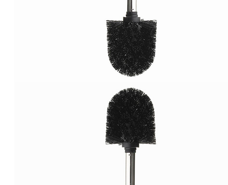 Toilet Brush Head : Replacement black stainless steel wc bathroom toilet brush head