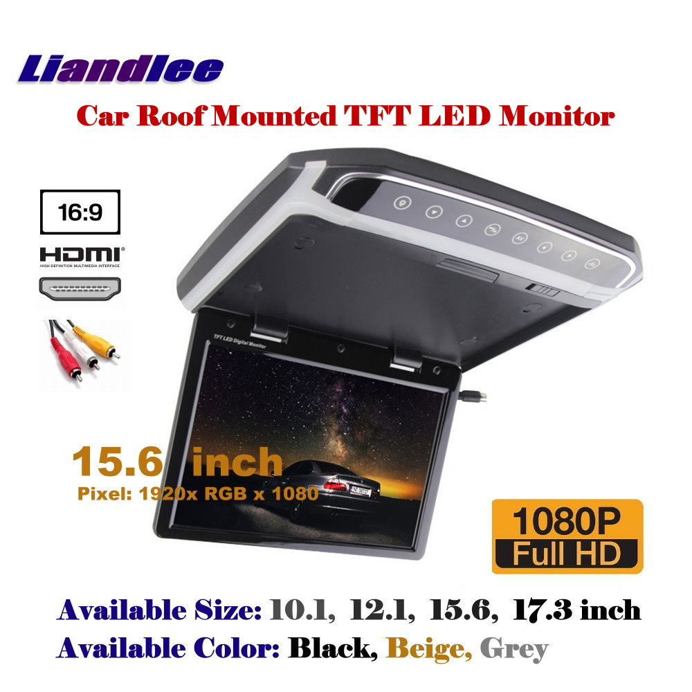 15 6 Inch Car Overhead Ceiling TFT LED Screen Roof Mounted Monitor Flip Down Display MP5