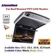 "15.6 ""araba tepegöz tavan TFT LED ekran çatı monte monitör ekran aşağı çevirin MP5 oyuncu/1080P HD dijital renkli TV"