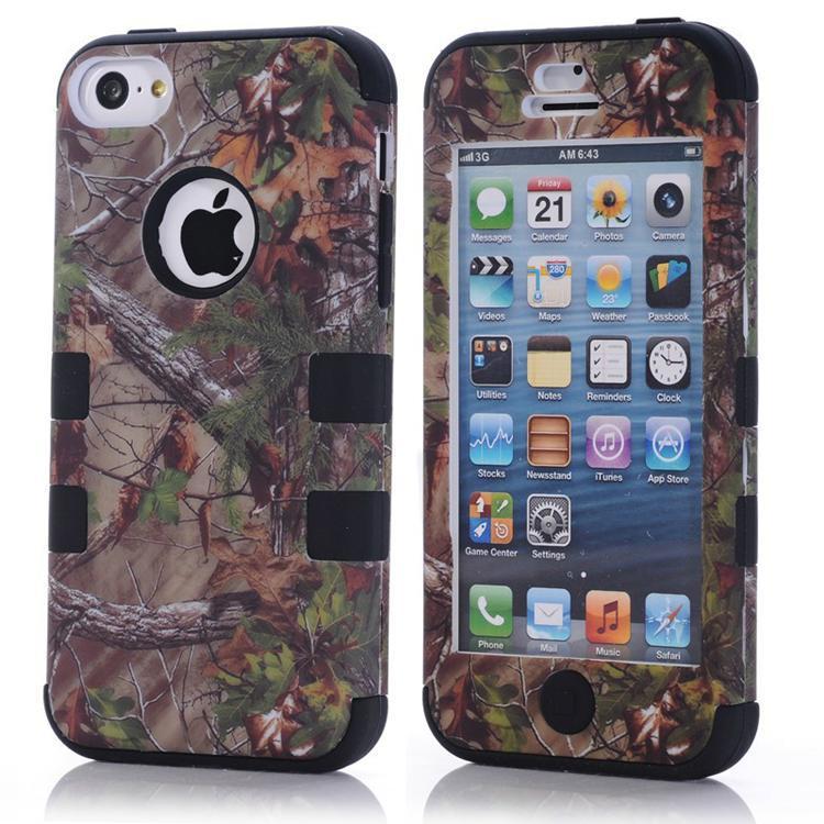 Rama moda diseño 3 en 1 Combo caso para iPhone 5C accesorios de telefonía móvil