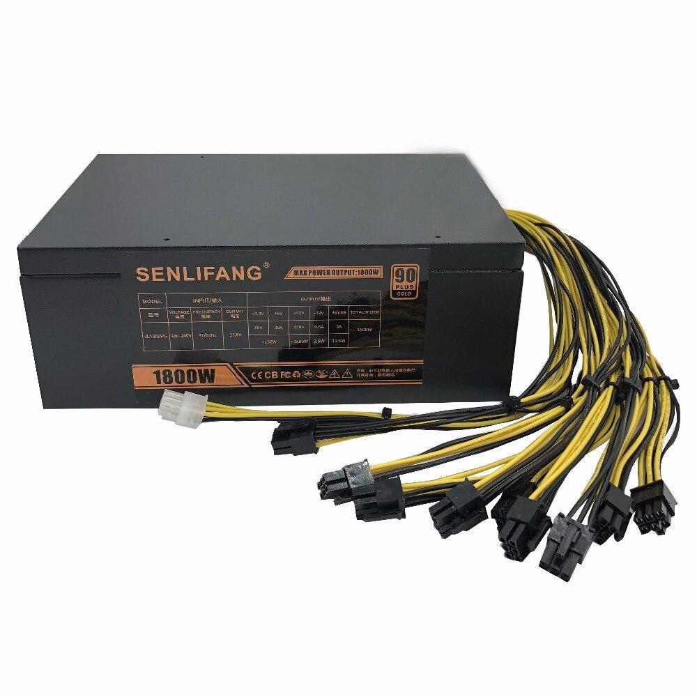 1800 W psu Formiga A6 A7 S7 S7 S9 L3 mineiro BTC máquina de mineração do servidor placa de alimentação Frete grátis