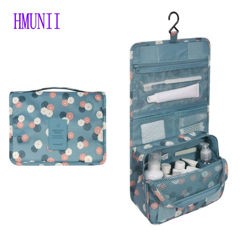 цена Drop Shipping Hot Brand Men Women Travel Organizer Hanging Wash Toiletry Cosmetics Bag Large Capacity Storage Bag MakeUp