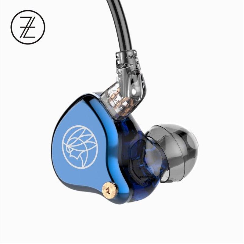TFZ T2 Galaxy Grafeen Dynamische Driver HiFi In-Ear Oortelefoon met 2Pin/0.78mm Afneembare kabel 16ohm 110dB 1.2 m IEM