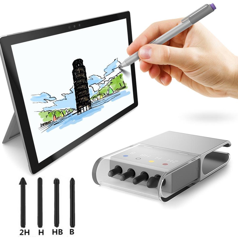 Professional 2H/H/HB/B Stylus Touch Pen Tip Kit For Microsoft Surface Pro 4/5 Spare Nib Tip Replacement