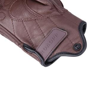 Image 3 - Nordson Retro Motorcycle Gloves Men Leather Waterproof Winter Touch Screen Motocross Gloves Full Finger Motorbike Moto gloves