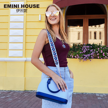 EMINI HOUSE Indian Style Shell Bag Split Leather Luxury Handbags Women Bags Designer Shoulder Bag Female Women's Handbags