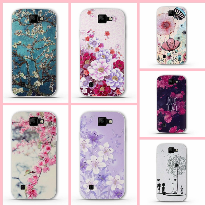 Phone Case For <font><b>LG</b></font> K3 2017 <font><b>K100</b></font> LS450 4.5 inch Soft TPU Silicone Mobile Flower Printed For <font><b>LG</b></font> K3 <font><b>K100</b></font> LS450 Cover Protective Back image