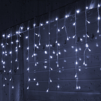 SVELTA Christmas Garland LED Curtain Lights Outdoor 10M 320 leds Icicle String Lights Wedding Party Garden Holiday Decorations