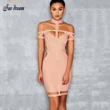 2b23221631 Hot sale 2017 New Summer Women Bandage Dress blue Apricot Orange Hollow Out  Celebrity Evening Party Bodycon Dresses Vestidos