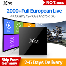 X96 Smart Android 6.0 IPTV Box S905X IUDTV Code Subscription Europe Channels Sweden French Arabic Top