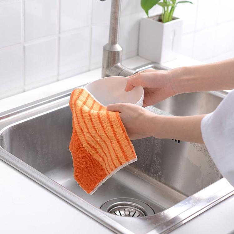 1 Набор/3 шт микрофибра в форме суши моющее полотенце для мытья посуды чистящие колодки масло для посуды кухонные аксессуары