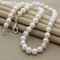 Real de Agua Dulce Collar de Perlas Naturales Ocasionales 8mm Nueva Perla 925 Collar De Plata de 18 Pulgadas Cultivadas de Perlas Genuinas Gargantilla