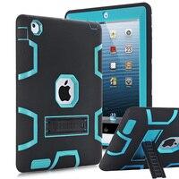 สำหรับApple iPad 2 iPad 3 iPad 4กรณีปกสูงผลกระทบทนไฮบริดสามชั้นหนักเกราะDefender
