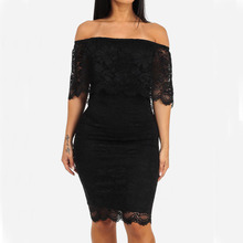MUXU fashion black lace bodycon dress patchwork sexy clothes sundress womens clothing summer backless pencil vestidos