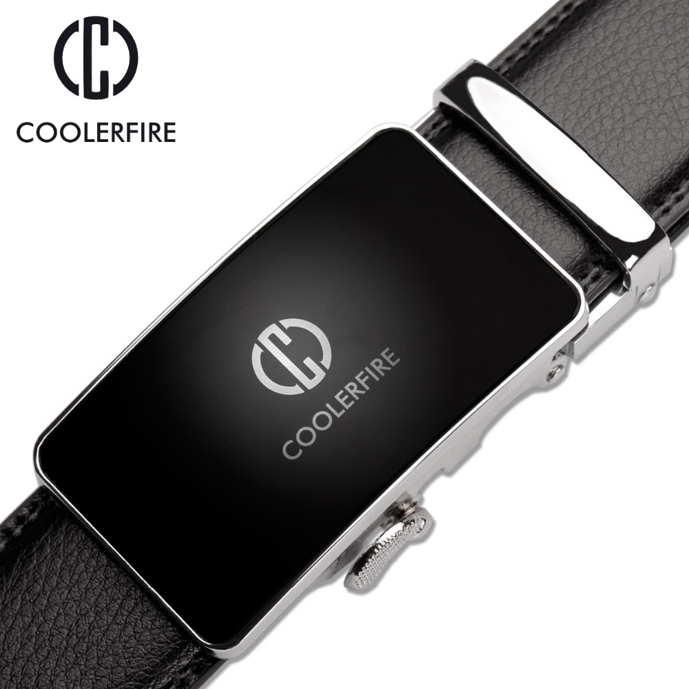 Designer Fashion Men   Belts   Luxury Automatic Buckle Cowskin Genuine Leather   Belt   for Men Business Black Waist Male Strap ZD051