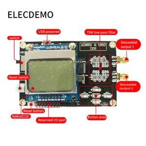 Image 2 - Módulo generador de señal función DDS AD9851 enviar programa Compatible con 9850 con placa de demostración de función Nokia5110