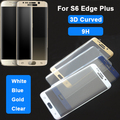 High Quality 9H Full Glass Protective Film For Samsung Galaxy S6 Edge+ Plus Full Cover 3D Curved Tempered Glass Screen Protector