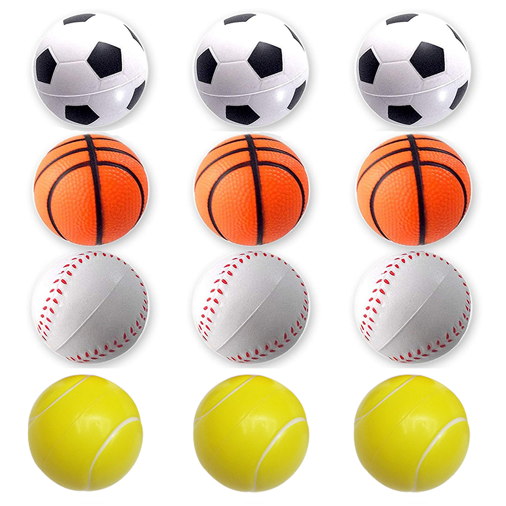Kids Baby Mini Sports Balls Toy Party Favor Toy Soccer Ball Basketball Football Baseball Stress Anxiety Relief Relaxation Toy