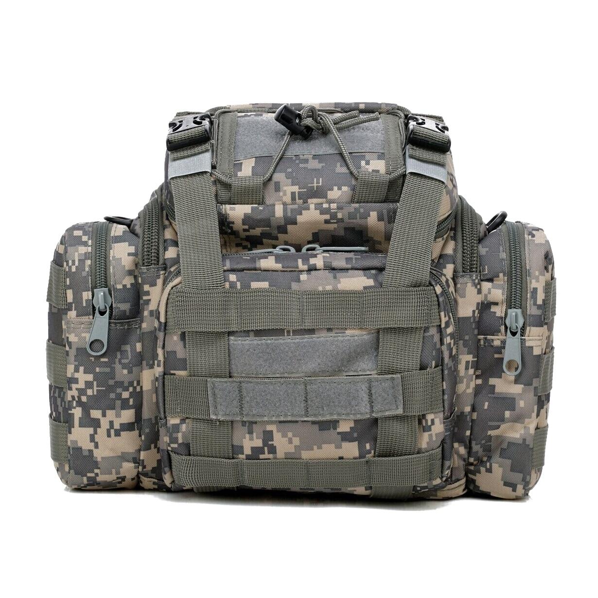 JHO-Sea/<font><b>Carp</b></font>/Fly Fishing Tackle Bag Waterproof Storage Waist Shoulder Carry Case ACU Camouflage