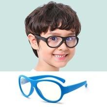 купить Comfort Baby Anti-blue Light Silicone Plain Computer Glasses Brand Children Soft Frame Goggle Glasses Kids Cat Eyes Eywear дешево