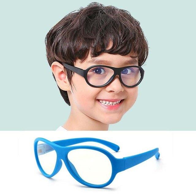 8a0e5faf2c21 Comfort Baby Anti-blue Light Silicone Plain Computer Glasses Brand Children  Soft Frame Goggle Glasses Kids Cat Eyes Eywear