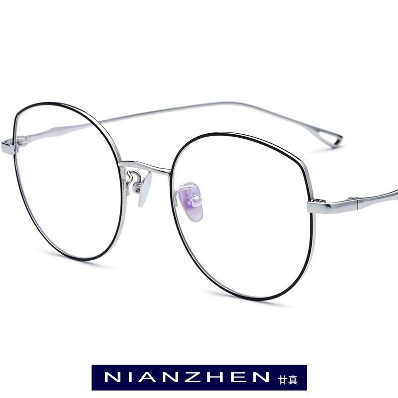 B titane lunettes cadre femmes surdimensionné oeil de chat myopie montures optiques 2019 rétro lunettes pour hommes lunettes lunettes 1133