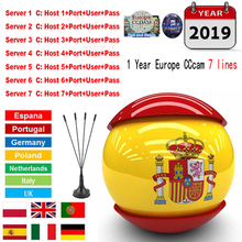 1 год 7 линий Cccam Cline поддержка приемник Европейский Португалия Испания итальянский, французский Ccccam HD сервер для Freesat v7 DVB-S2 HD