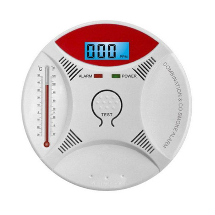 Carbon Monoxide Smoke Alarm Poisoning White 5~40C Sensor Smart 3 - 0.5KHZ 85dB Detector Indoor