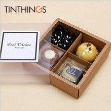 10 шт., упаковка из ПВХ для кексов, Прозрачная Матовая коробка из крафт бумаги, подарочная упаковка для свадебных тортов, вечерние товары для дома