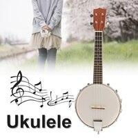 4 String Banjo Ukulele Uke Banjolele Concert 23 Inch Mahogany Musical Instrument