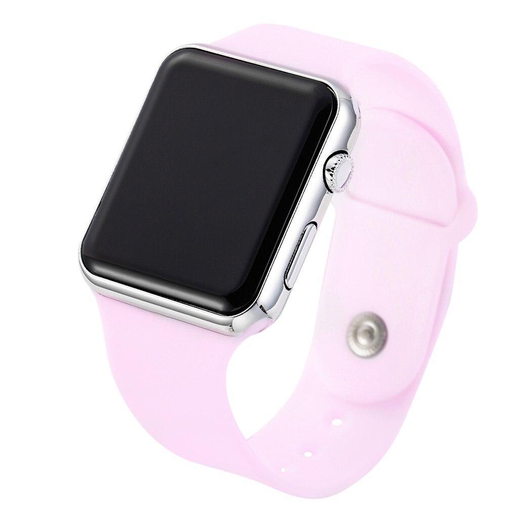 6f784facfbb Homens Relógios Feminino Relógio de Quartzo Silicone Marca de Luxo LED Relógio  Digital de Rosa Esporte