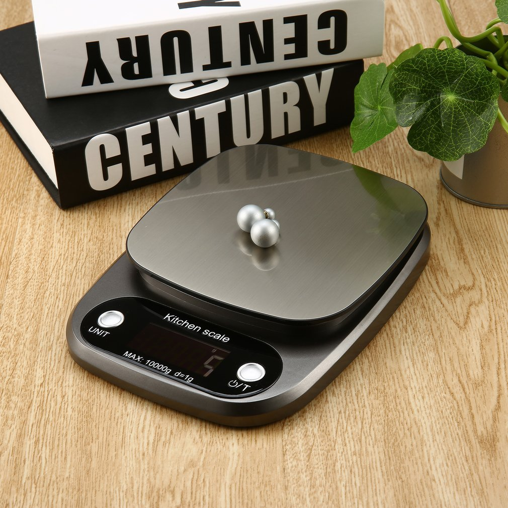 Digital Scale 10kg/0.1g Scale High Accuracy Scale Stainless Steel Salver LCD Display Pocket Scale Kitchen Multiple Use