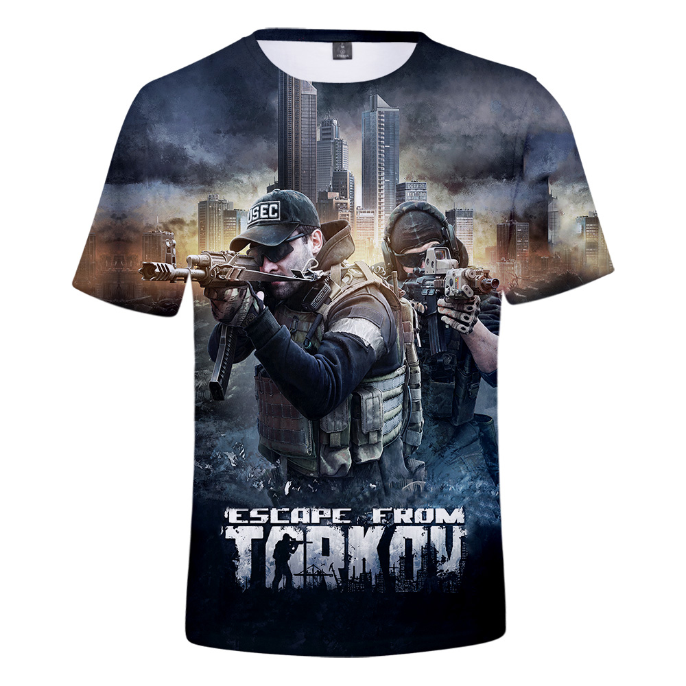 New Arrival Escape From Tarkov 3D T-shirt  Men/Women Escape From Tarkov 3D t shirt Short sleeve Summer Super Hot Online Game