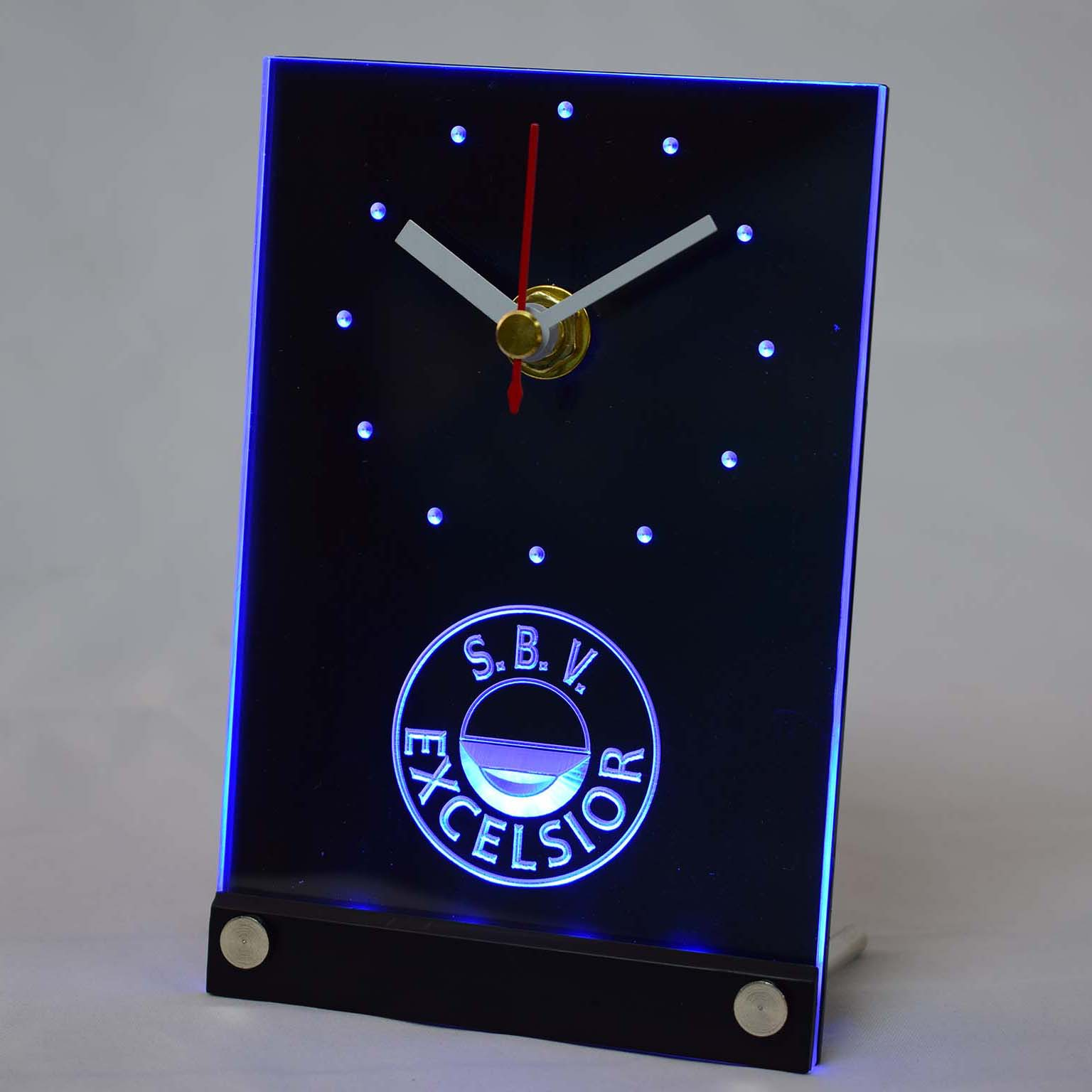 tnc1022 S.B.V. Excelsior Dutch Eredivisie Football 3D LED Table Desk Clock